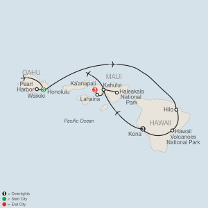 10 Day Tour from Honolulu to Maui