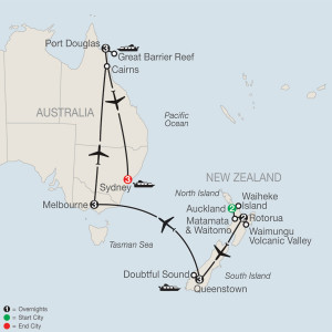 17 Day Tour from Auckland to Sydney