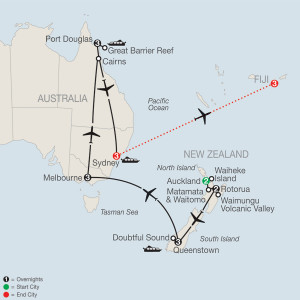 20 Day Tour from Auckland to Nadi